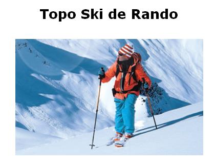 Topo rando ski